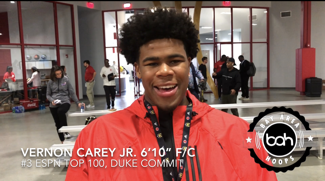 Vernon Carey talks Injury, Rankings and Duke